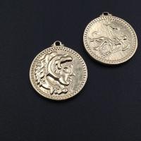 Монета крупная двусторонняя 24мм, цвет золото