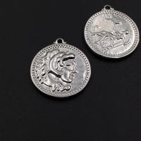 Монета крупная двусторонняя 24мм, Родий