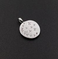 Медальон Звездопад с фианитами; Родий