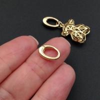 Карабин-Бейл mini 12*8мм; цвет золото