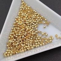 2мм - Бусина разделитель Гладкая; 1 грамм (58 бусин); цвет золото