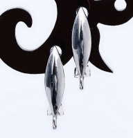 Швензы полированные Овал, цвет платина