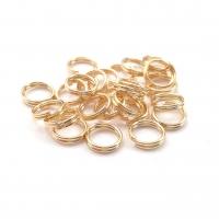 10 штук - 10мм; Двойное соединительное Кольцо 10мм; цвет золото