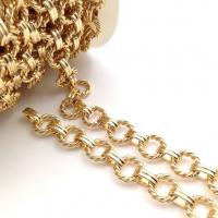 Цепь: Витое кольцо 12мм, двойной овал 10*3мм; цвет золото - 50 см