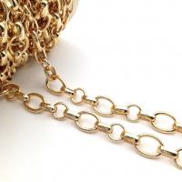 Цепь: Овал 15*11мм, овал 11*4мм, кольцо 10мм; цвет золото - 50 см