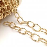 Цепь: Овал витой 20*13мм; цвет золото - 50 см
