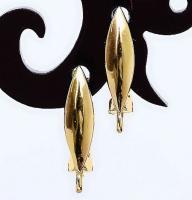 Швензы полированные Овал, цвет золото