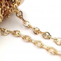 Цепь: овал 15*6мм +звено с кольцом 11*14мм; цвет золото - 50 см