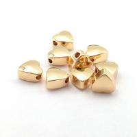 10 бусин Сердце 6мм; цвет золото