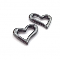 Керамика Чёрная Сердце 20мм