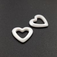 Керамика Белая Сердце 14мм