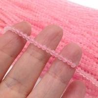 Натуральный розовый Кварц; шар гранёный 3мм; нить 38см