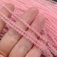 Натуральный розовый Кварц; шар гранёный 3.5мм; нить 38см