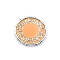 Медальон Знаки Зодиака с Лососевой эмалью; платина