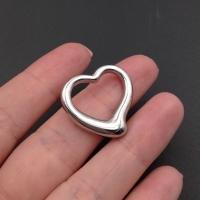 Элемент Сердце 25мм; родий
