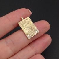 Медальон Восход с фианитами; цвет золото