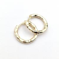 Серьги Кольцо мятое 21мм; цвет Золото