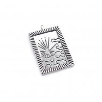 Медальон Восход Солнца с чернением; цвет платина