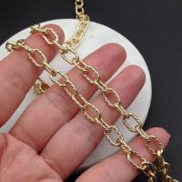Цепь из Латуни - Овал сечение 10*6.5мм; цвет золото