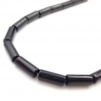 Колонна Чёрный Агат 8*20мм; 10 бусин