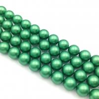 10 бусин Crystal Eden Green Pearl