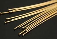 Пины-гвоздик, Жёсткие 50*0.5мм, золото. 3грамма