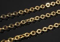Цепочка Тонкая Южная Корея, 1метр; звено 2.1*2.5мм, цвет золото