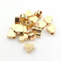 10 бусин Сердце плоское 7мм; цвет золото