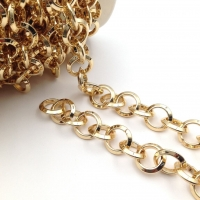 Цепь: Звено Кольцо 14.5мм; 50см, цвет золото