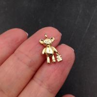 """Подвеска 15мм """"Мишка с мишкой""""; цвет золото"""