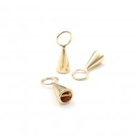 Концевик-Конус с перемычкой, цвет золото