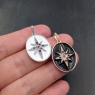 Подвеска Звезда с эмалью и цветными фианитами, на Бейле; платина