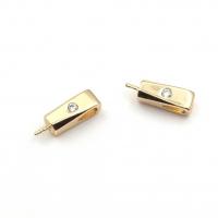 Бейл-пин для вклейки 9.5*3.7мм; цвет золото