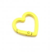 Карабин Сердце с эмалью; Жёлтый цвет