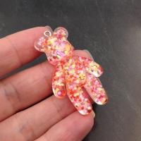 Мишка Большой 44мм, Розовое Конфетти