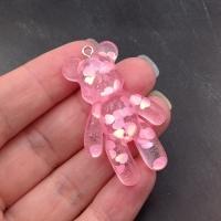 Мишка Большой 44мм, Розовые Сердечки