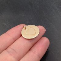 Подвеска Сердце коллекция Тоус 20мм; цвет золото