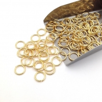 Соединительное колечко, 8*1мм; цвет золото, 20 штук