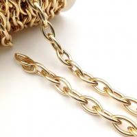 Цепь: Звено Овал Острый 21*11мм; 50см, цвет золото