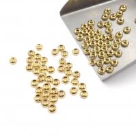 20 штук - Бусины пончик 4*2мм; цвет золото