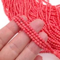 Коралл Розовый шар гранёный 3мм; нить 38см