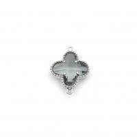 Коннектор Клевер Дымчато-серый, цвет платина