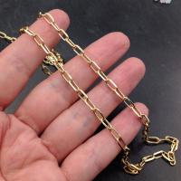 Цепь из Латуни 7.8*3.8мм; цвет золото, 50см