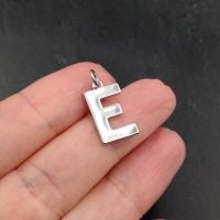 """Буква """"E"""" полированная; цвет платина"""