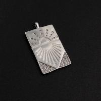 Медальон Восход с фианитами; Родий