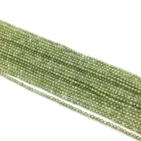 Кварц синтетический ювелирной огранки шар 1,8мм, цвет Оливковый