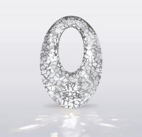 Swarovski Подвеска Овал 20мм, Crystal Silver Patina (6040)