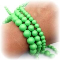 Жемчуг Майорка Зелёный кислотный, цвет №12, полная нить