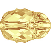 Swarovski Скарабей 5728 Crystal Metallic Sunshine