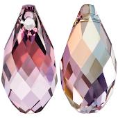 Swarovski Подвеска Бриолетт 11мм Crystal Lilac Shadow (6010)